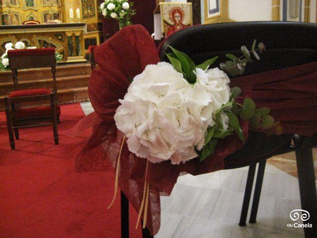 Bodas religiosas - detalle floral sillas - oh Canela