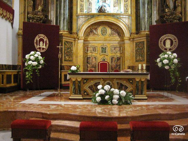 Bodas religiosas - decoracion altar - oh Canela