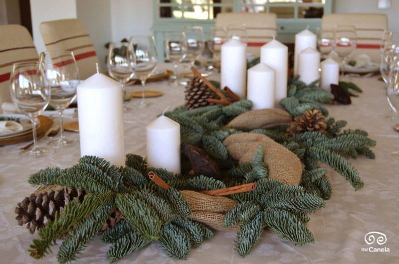 Centros y guirnaldas para navidad decoraci n con centros for Centros navidenos caseros