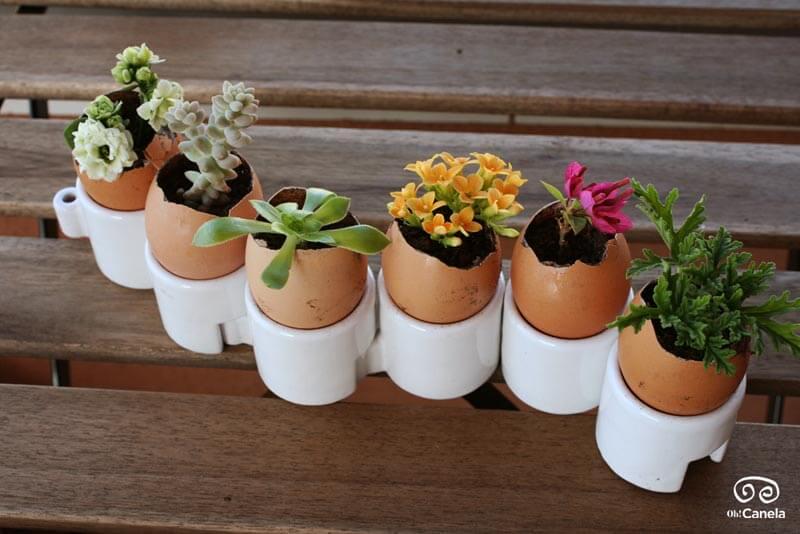 Huevos de pascua florales