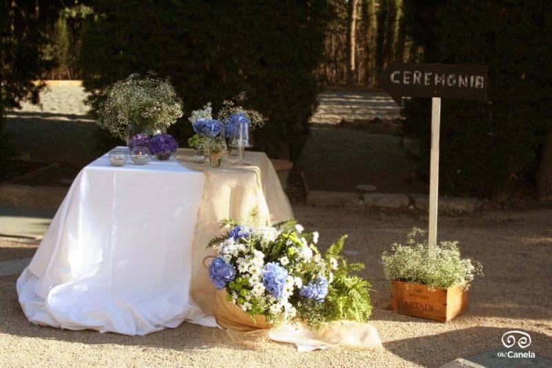 Ceremonia bienvenida en azul