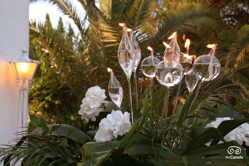 Bujías cristal iluminación
