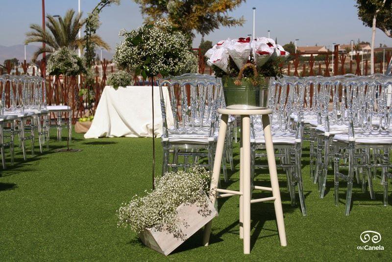 Esperando a los novios ceremonia
