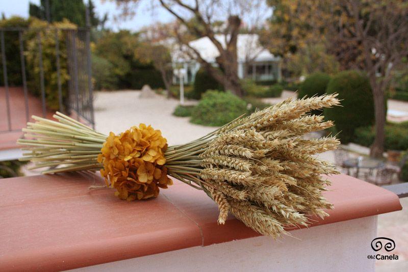 Ramo otoñal trigo - Oh! Canela