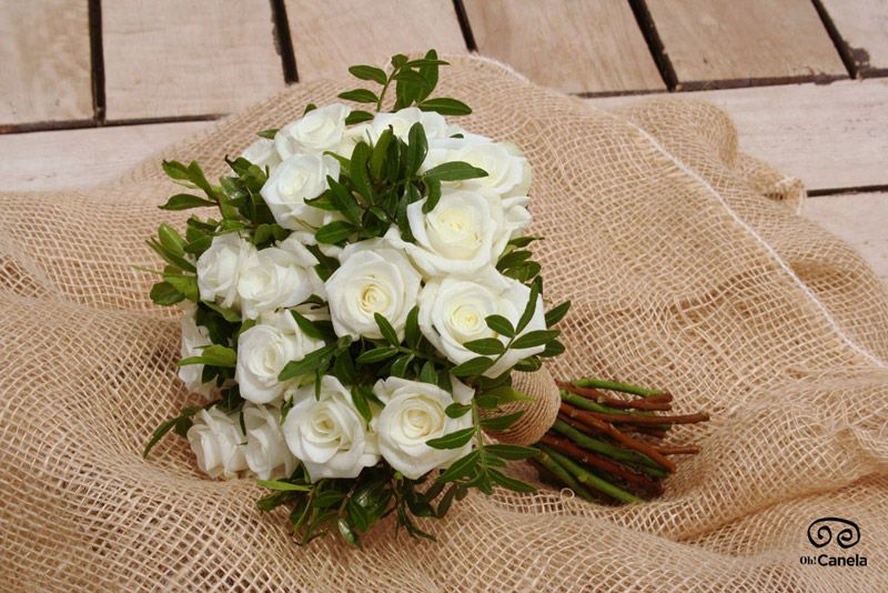 Bouquet Rosas blancas - Oh! Canela