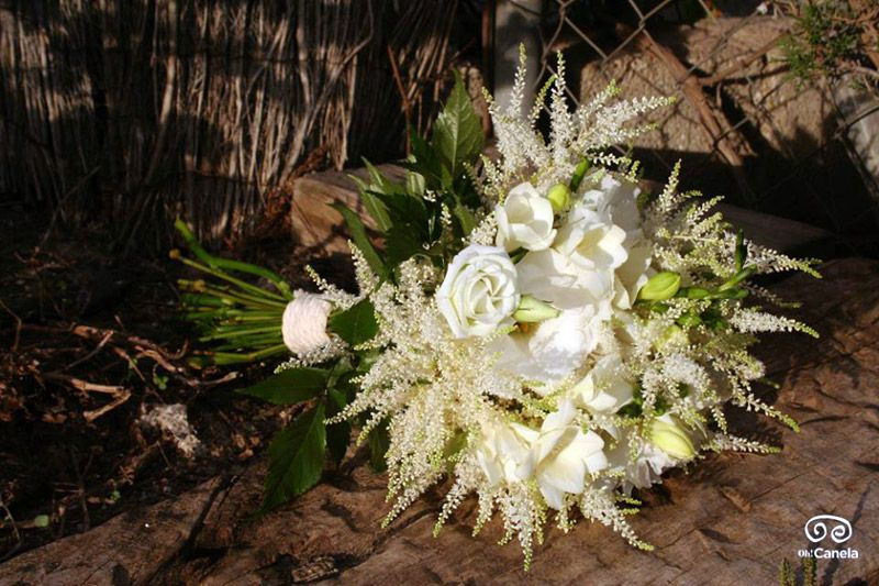 Rosas blancas - bouquet - oh! Canela