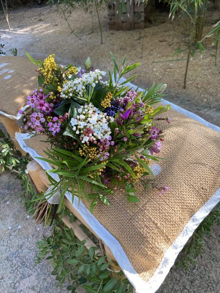 ramo, novia, flores, silvestres